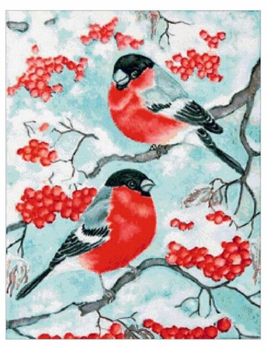Новогодние открытки снегири фото