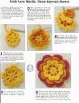 Описание: Вязаные цветы крючком со схемами - Все.