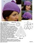 шапка крючком женская.