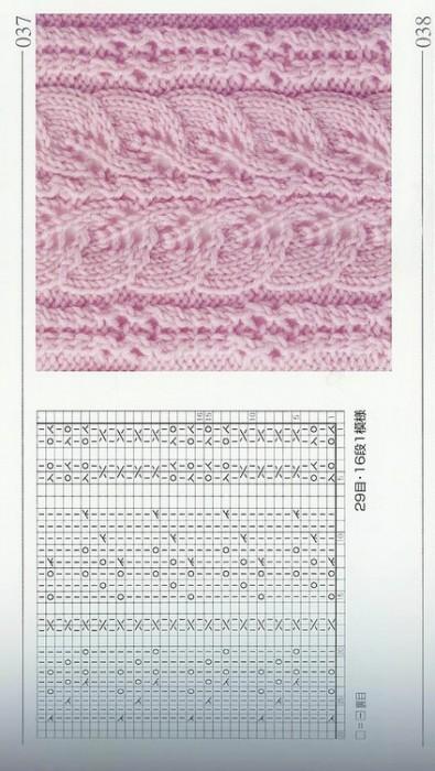 Рхема узора Большая, двойная коса для вязания спицами. скандинавские...