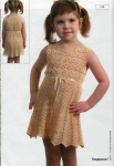 Вязаное платье для девочки Вязание крючком, схемы вязания, бесплатное...