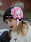 Шапка для девочки крючком схема. шапка шоу.  Теги. игровые шапки.