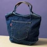 Теги. выкройки сумок из джинсов.  Украшение сумок. самые модные джинсы.
