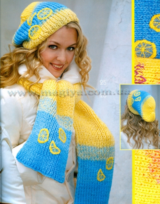 Вязание на спицах Knitting.  Альбомы.  Шапки, шляпки и шарфы.
