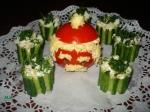 Необычное на вид украшение для холодных мясных закусок или блюд с...