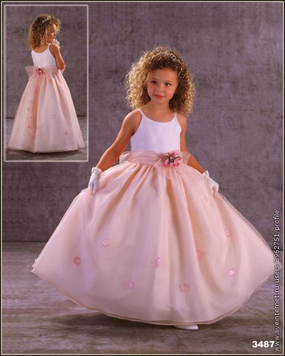 не знаю, мне кажется у детей должны быть детские платья и не должно быть...