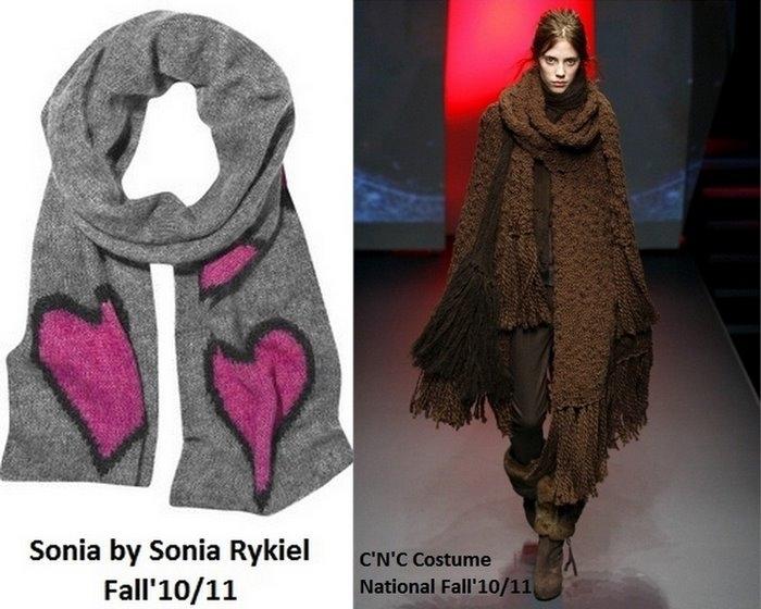 Зима еще в разгаре, подбираем шарф на 2011 год!