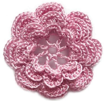 вязание крючком для начинающих цветок.