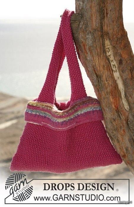 схема летних сумок спицами - Выкройки одежды для детей и взрослых.