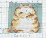 """Силуэт кошки  """" Вышивка крестом Схемы."""