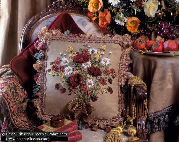 МАСТЕР-КЛАСС по Вышивке лентами СИРЕНЬ КУЧЕРЯВАЯ, автор Инесса Вышивка.