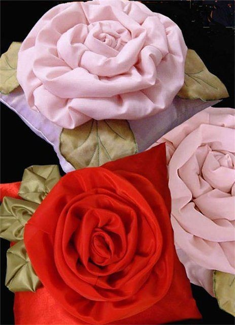 Ткани - Изготавлимаем цветы