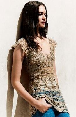 Re: Вязаные сарафаны, туники, платья(желательно с описаниями).  Natasha.
