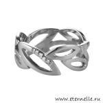 Серебряное кольцо Hot Diamonds с бриллиантами из серебра с основной...